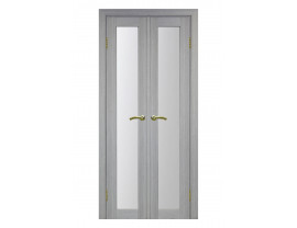 Двери межкомнатные Optima Porte 501.2 40+40 дуб серый