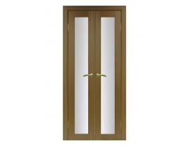 Двери межкомнатные Optima Porte 501.2 40+40 орех классик