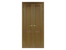 Двери межкомнатные Optima Porte 502.11 40+40 орех классик