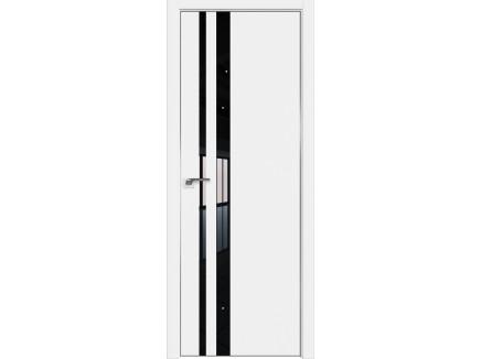 Двери межкомнатные Profil Doors 16E Аляска лак чёрный CHROME MAT