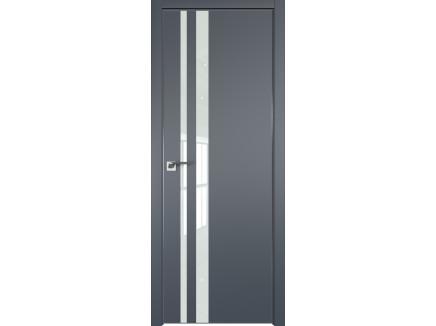Двери межкомнатные Profil Doors 16E Антрацит лак белый CHROME MAT