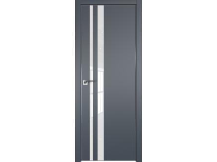 Двери межкомнатные Profil Doors 16E Антрацит лак классик CHROME MAT