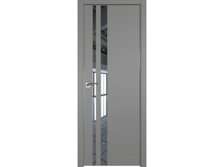 Двери межкомнатные Profil Doors 16E Грей зеркало CHROME MAT