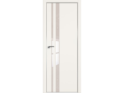 Двери межкомнатные Profil Doors 16E Дарквайт лак перламутровый CHROME MAT