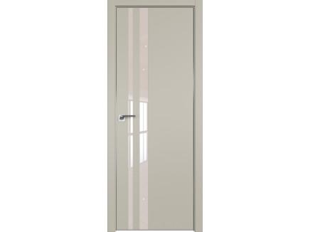 Двери межкомнатные Profil Doors 16E Шеллгрей лак перламутровый CHROME MAT