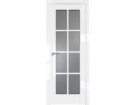 Двери межкомнатные Profil Doors 101L Белый люкс стекло графит