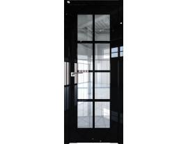 Двери межкомнатные Profil Doors 101L Чёрный люкс прозрачное