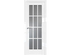 Двери межкомнатные Profil Doors 102L Белый люкс стекло графит
