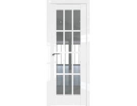 Двери межкомнатные Profil Doors 102L Белый люкс стекло прозрачное