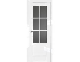 Двери межкомнатные Profil Doors 103L Белый люкс стекло графит