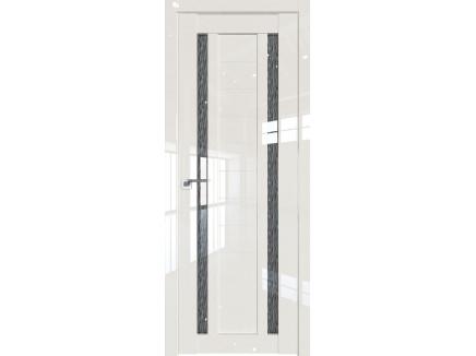 Двери межкомнатные Profil Doors 15L Магнолия люкс стекло дождь черный