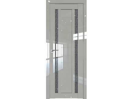 Двери межкомнатные Profil Doors 15L галька люкс стекло дождь черный