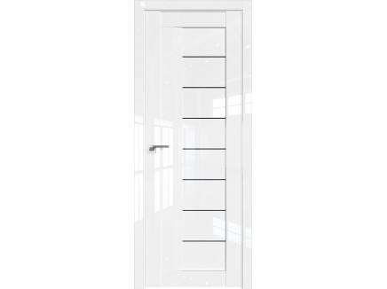 Двери межкомнатные Profil Doors 17L Белый люкс триплекс чёрный