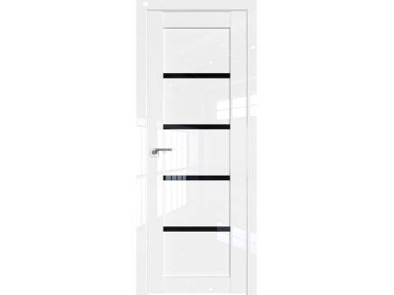 Двери межкомнатные Profil Doors 2.09L Белый люкс стекло триплекс черный
