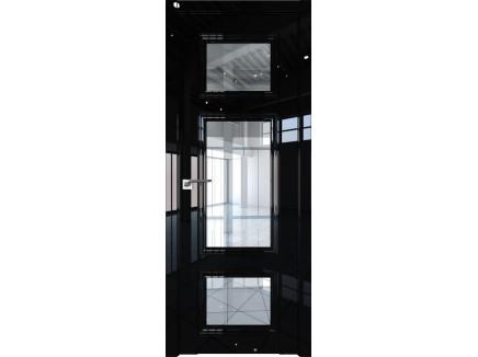 Двери межкомнатные Profil Doors 2.105L Чёрный люкс прозрачное