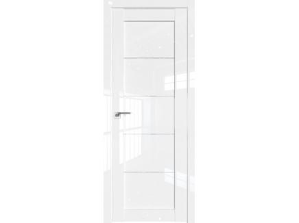 Двери межкомнатные Profil Doors 2.11L Белый люкс стекло дождь белый