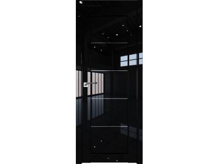 Двери межкомнатные Profil Doors 2.11L Чёрный люкс прозрачное