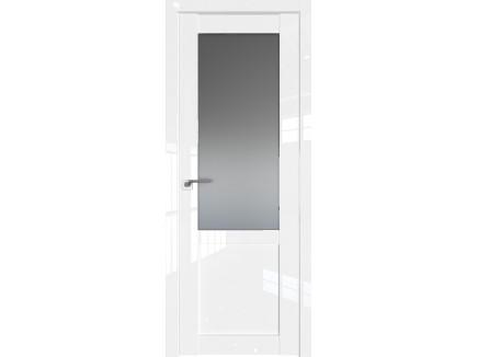Двери межкомнатные Profil Doors 2.17L Белый люкс стекло графит