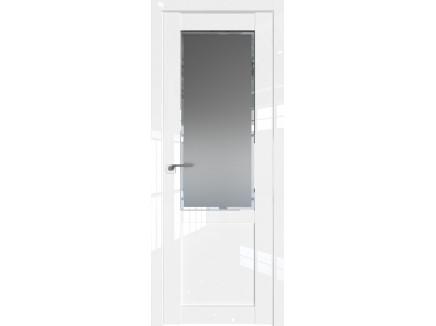 Двери межкомнатные Profil Doors 2.17L Белый люкс стекло square графит