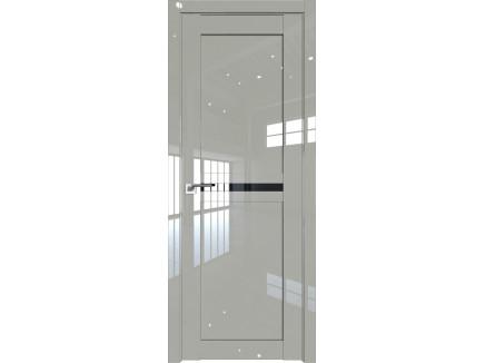 Двери межкомнатные Profil Doors 2.43L Галька люкс триплекс чёрный