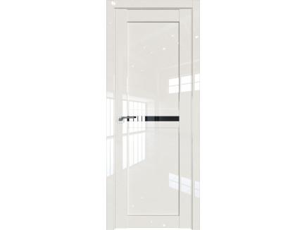 Двери межкомнатные Profil Doors 2.43L Магнолия люкс триплекс чёрный