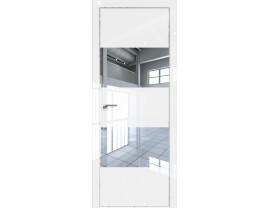 Двери межкомнатные Profil Doors 10LK CHROME Белый люкс зеркало