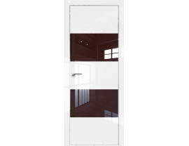 Двери межкомнатные Profil Doors 10LK CHROME Белый люкс лак коричневый