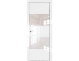Двери межкомнатные Profil Doors 10LK CHROME Белый люкс лак перламутровый