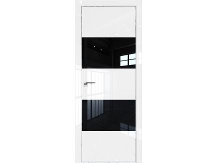 Двери межкомнатные Profil Doors 10LK CHROME Белый люкс лак чёрный
