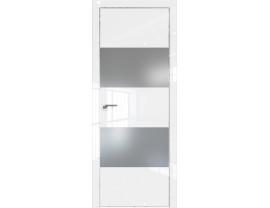 Двери межкомнатные Profil Doors 10LK CHROME Белый люкс серебро матлак