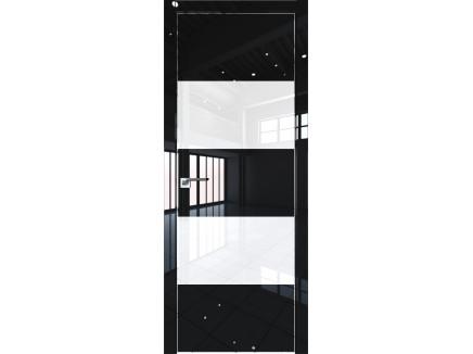Двери межкомнатные Profil Doors 10LK CHROME Чёрный люкс лак классик