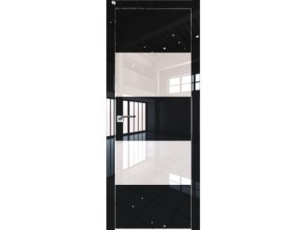 Двери межкомнатные Profil Doors 10LK CHROME Чёрный люкс лак перламутровый