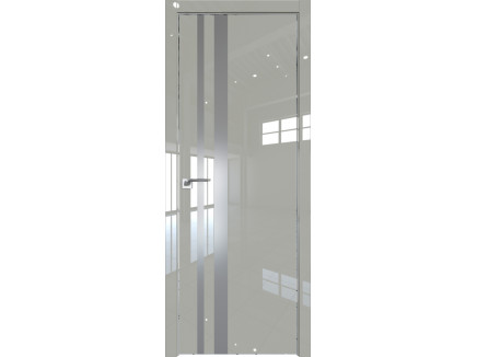 Двери межкомнатные Profil Doors 16LK CHROME Галька люкс серебро матлак