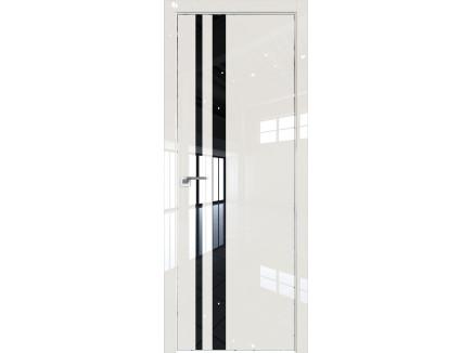 Двери межкомнатные Profil Doors 16LK CHROME Магнолия люкс лак чёрный