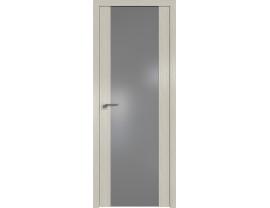 Двери межкомнатные Profil Doors 110N Дуб Скай Белёный серебро матлак