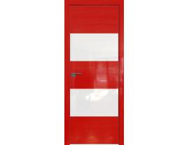Двери межкомнатные Profil Doors 10STK Pine Red glossy белый лак