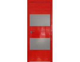 Двери межкомнатные Profil Doors 10STK Pine Red glossy серебро матлак