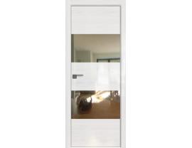 Двери межкомнатные Profil Doors 10STK Pine White glossy зеркало