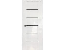 Двери межкомнатные Profil Doors STP99 Pine White glossy триплекс черный