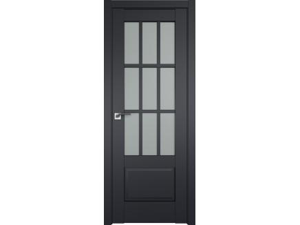 Двери межкомнатные Profil Doors 104U Чёрный матовый матовое