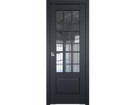 Двери межкомнатные Profil Doors 104U Чёрный матовый прозрачное