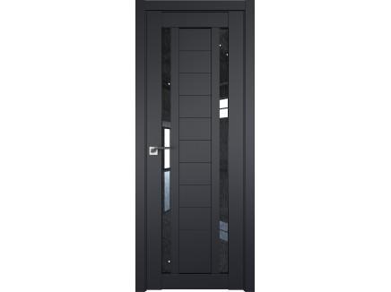 Двери межкомнатные Profil Doors 15U Чёрный матовый дождь чёрный