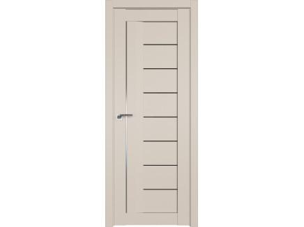 Двери межкомнатные Profil Doors 17U Санд чёрный триплекс молдинг ал