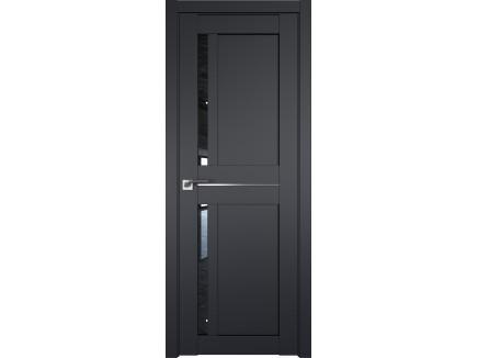 Двери межкомнатные Profil Doors 19U Чёрный матовый дождь чёрный