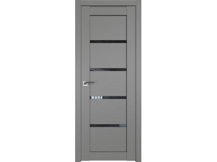 Двери межкомнатные Profil Doors 2.09U Грей дождь чёрный