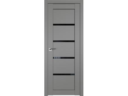 Двери межкомнатные Profil Doors 2.09U Грей чёрный триплекс