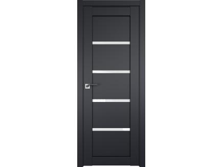 Двери межкомнатные Profil Doors 2.09U Чёрный матовый белый триплекс