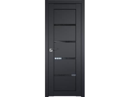 Двери межкомнатные Profil Doors 2.09U Чёрный матовый дождь чёрный