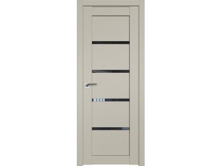 Двери межкомнатные Profil Doors 2.09U Шеллгрей дождь чёрный