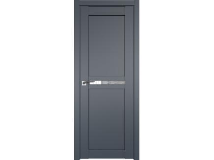 Двери межкомнатные Profil Doors 2.43U Антрацит дождь белый